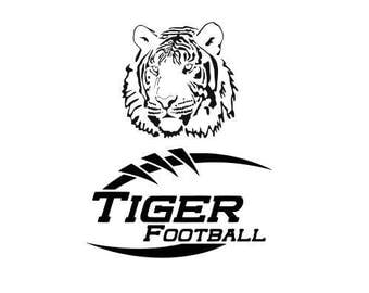 Tiger High School College Football SVG File Cutting, DXF, EPS design, cutting files for Silhouette Studio and Cricut Design space