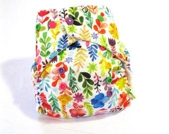 Summer Flower OS Cloth Pocket Diaper