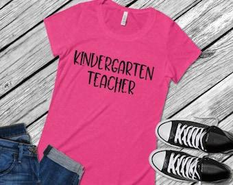 Distressed Kindergarten Teacher; Teacher; SVG; PNG; DXF; Digital Download; Digital File; Distressed Svg; Teacher Svg; Cut File; Silhouette;