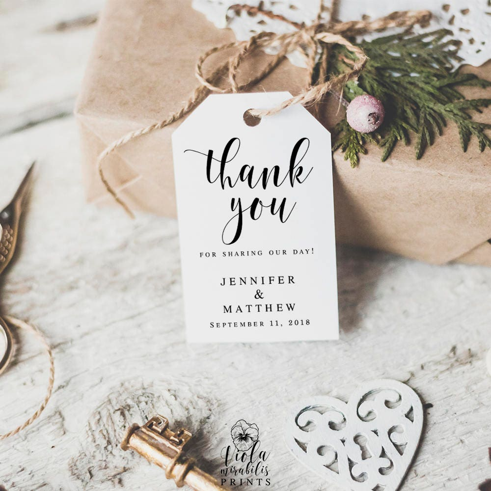 Wedding favor tags Wedding thank you tags printable Thank you tag ...