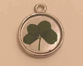 Small Real Four Leaf Clover Pendant