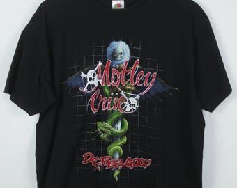 Vintage shirt, Motley Crue, Band Shirt, Tour shirt, black