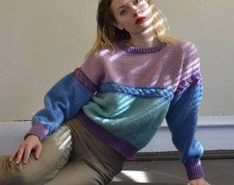 Multicolor 90s Vintage Sweater