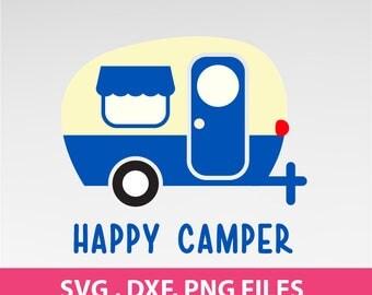 Instant Download, Happy Camper SVG, traveler svg, DXF, PNG Formats 0153
