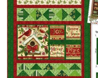 SALE** Believe in the Season - Panel - Clothworks by Sue Zipkin