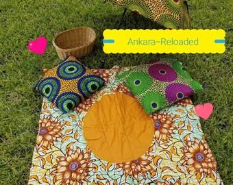 Ankara Beach Mat/ Pinic Mat/Beach Sheet/Ethnic Beach Sheet