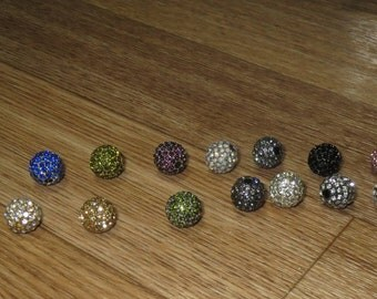 Rhinestone Round Ball 10MM (see below for colors)