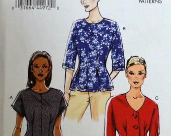 Uncut 2013 Vogue Sewing Pattern 8906; Size 16-18-20-22-24;Misses' Top