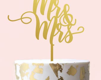 Mr and Mrs Cake Topper - Wedding Cake Topper
