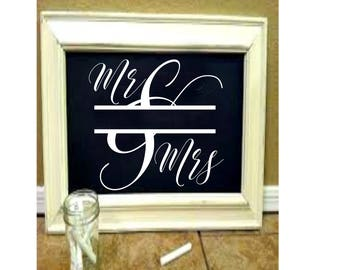 Mr and Mrs split letter Wedding  2  SVG Cut file  Cricut explore file  decal wood signs scrapbook vinyl decal wood sign t shirt cricut cameo