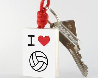 "Porte-Clé Sport ""I love volley-ball"""