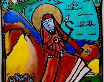 NEW: Enda of Inismor, Mounted Print