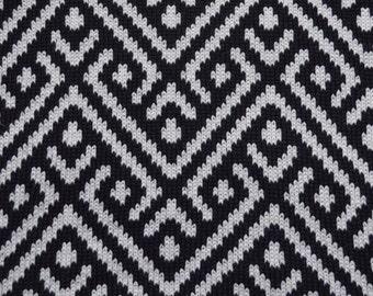 Geometric Knitted Cushion