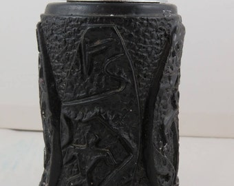 Vintage Coco Joes Lighter - Olowalu Petroglyph Design - Made with Lava