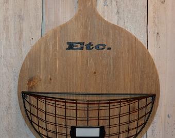 ETC Basket // Hanging Wood Basket // Plastic Bag Basket // Mudroom Basket // Mail Basket // Hanging Wire Basket // Wood Paddle Basket