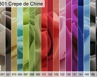 301 crepe de Chine exhibition of 6 x 10 CM