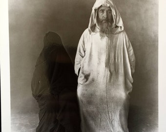 """Irving Penn Photograph: """"Man in White, Woman in Black -- Morocco (with interesting provenance)"""