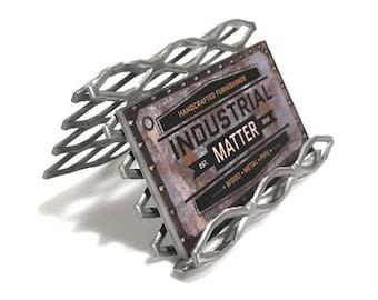 Custom Industrial Metal Business Card Holder / Display