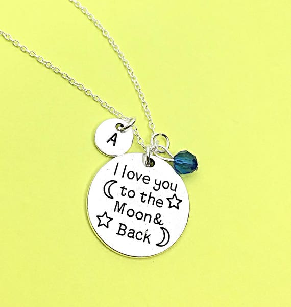 I love you to infinity and beyond necklace