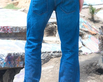 Men's Dark Wash Hemp Jeans