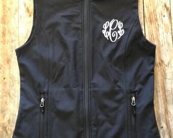 Monogrammed Initials - Ladies Softshell Vest