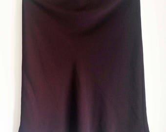 Color Aubergine midi skirt