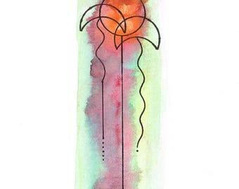 Umbrella-13 (Original Watercolor Painting)