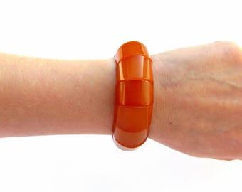 Statement bracelet women Baltic amber bracelet adult Stone bracelet elastic Geometric bracelet Red statement bracelet Energy bracelet women