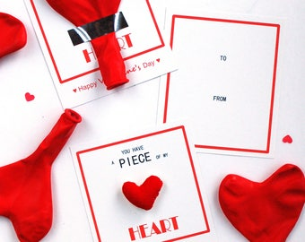 FREE Printable - Valentine's Day Card - Heart Theme - PDF instant download