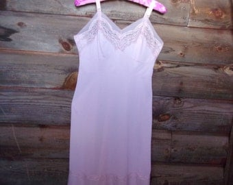 Pale Pink Vintage Slip Ladies Lingerie Vintage Nightgown