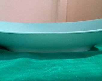 Boontonware Turquoise Melmac Style Serving Bowl/Platter (609). Made in U.S.A.