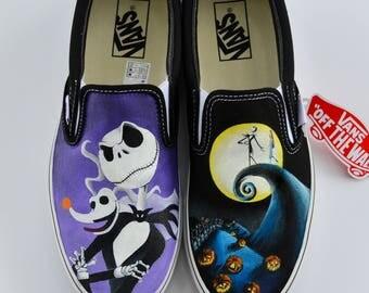 Nightmare Before Christmas Jack Hand Painted Custom Vans - Shanny's Shoes