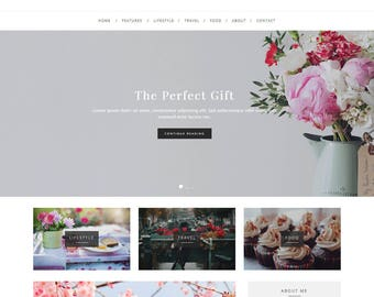 Elegance - WordPress Blog Theme - Feminine WordPress theme - Responsive WordPress theme - Website template