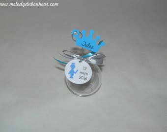 Ball little prince and Crown blue Knight boy baptism favors