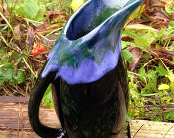 Vintage, Vase, Pottery Vase, Flower Vase, Water pitcher, Vintage Pottery, New England, Massachusetts, Sheffield Pottery House, 1980's, Boho