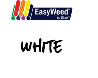 Siser EasyWeed Heat Transfer Vinyl - HTV - White