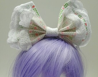 Dolly Green and White Bow