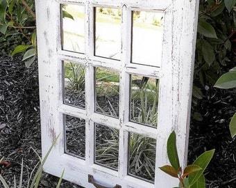 Wall Mirror, Rustic Mirror, Farmhouse Window Mirror, Farmhouse Decor, Vintage Mirror, Rustic Home Decor, Rustic Wall Decor, Rustic Decor