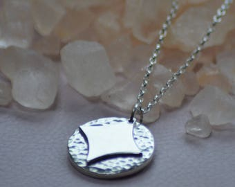 Valentine's silver necklace with hidden love heart