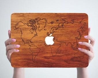 Macbook Map Wood Cover for Macbook Mac Book Case Macbook Cover for Laptop 12 Macbook Pro 13 Retina Case Pro 15 Retina Mac Case Air 13 Air 11