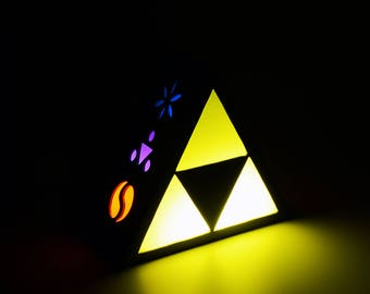 Ambient light of Triforce from Legend of Zelda. Decoration l& home decor illumination & Ambient light | Etsy azcodes.com