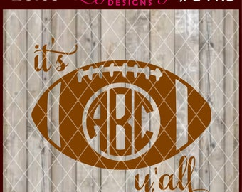 LC168 - It's Football Y'all Monogram Design