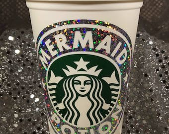 Mermaid Potion Sparkly & Glittery Personalized Customized Starbucks Cup