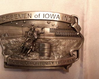 Vintage Limited Edition Numbered Western Belt Buckles