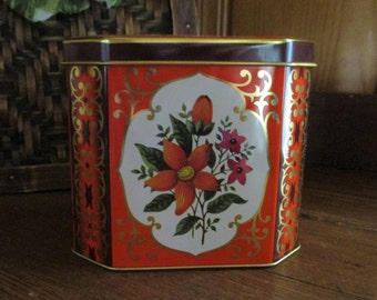 Vintage Tin with Hinged Top