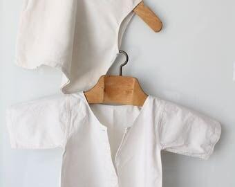 Baby linen baby jacket, shirt shirt White top baby linen, linen baby, infant, ENF171115 shirt clothing