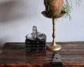 Large Brass Plantstand or Candleholder - tall pedestal bowl