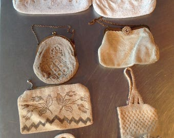 Group of 6 vintage beaded bags 1920's to 1950's gorgeous gift for her evening bags