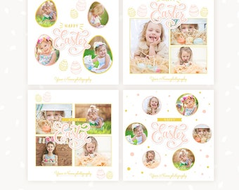 Easter Social Media Templates for photographers, Easter Marketing Template, Instagram Template, Photography marketing, Easter images