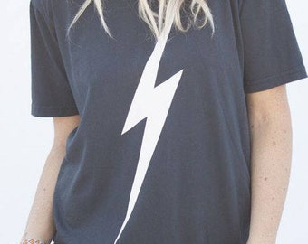 Lightning Bolt thunder ladies t-shirt